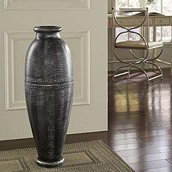 Antique Silver Floor Urn Vase (Indonesia)