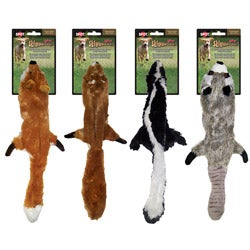 Mini Skinneeez 13-inch Two Squeaker Stuffingless Dog Toy 4-piece Set