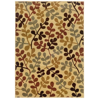 Beige Abstract Rug (8'2 x 10')