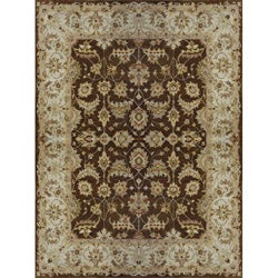 Hand-tufted Aara Brown Wool Rug (5' x 7'6)