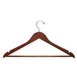 Honey-Can-Do Cherry Wood Hangers (Case of 24)