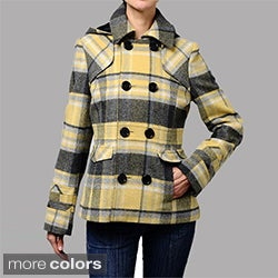Maralyn & Me Hooded Wool-blend Peacoat