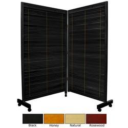 Wooden 5-foot 2-panel Shutter Folding Room Divider (China)