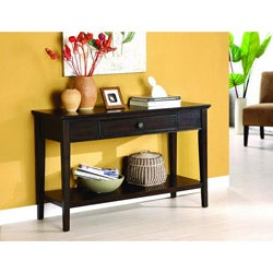 Karlyn Dark Cherry Sofa/ Entryway Table