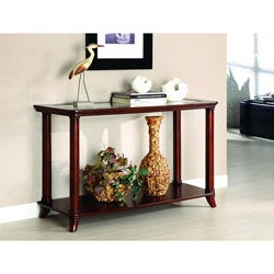 Hallow Beveled Glass Top Console/ Sofa Table