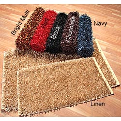 Hand-woven New Haven Shag Rugs (1'9 x 2'10) (2'3 x 3'6) (Set of 2)