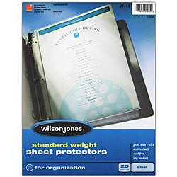 Wilson Jones Standard Weight Sheet Protectors (Case of 250)