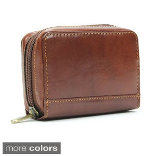 Tony Perotti Handmade Italico Zip-around Italian Leather Accordion Credit Card Holder