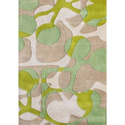 Alliyah Handmade Lime Green New Zealand Blend Wool Rug (8' x 10')