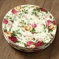 Royal Albert 4-piece Country Rose Chintz Dessert Plates