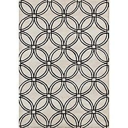 Alliyah Handmade Light Grey New Zealand Blend Wool Rug (8' x 10')
