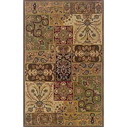 Hand-tufted Wool Multi-color Panel Rug (3'6 x 5'6)
