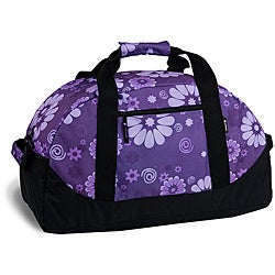 J World 'Lawrence' Purple Flower 30-inch Duffel Bag