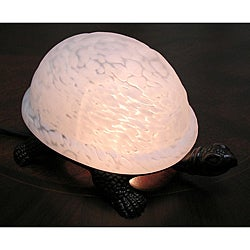 Warehouse of Tiffany White Turtle Accent Lamps (Set of 2)