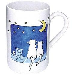 Konitz Cats At Night Mugs (Set of 4)
