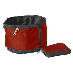 Pet Life Red Wallet Travel Pet Bowl