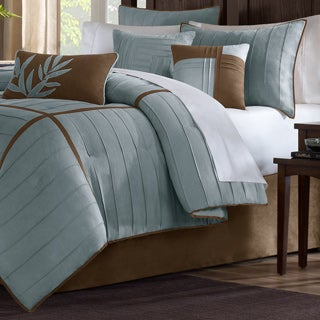 Madison Park Kirkwood Blue 7-piece Comforter Set