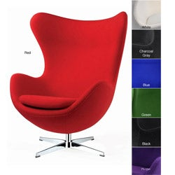 Red Wool Egg Chair