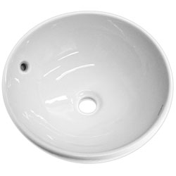 Round Ceramic White Vessel Sink