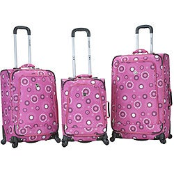 Rockland Deluxe Pearl 3-piece Spinner Luggage Set