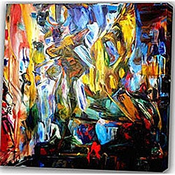 Abstract 'Dance' Canvas Art