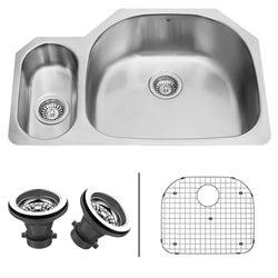 VIGO 32-inch Undermount Stainless Steel Kitchen Sink, Grid and Two Strainers