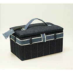 Suzy's Denim Medium Sewing Box
