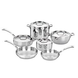 Cuisinart FCT-10 French Classic Tri-ply 10-piece Stainless Cookware Set