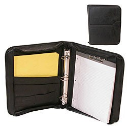 Bond Street Limited Zippered Letter Padfolio and 3-ring Binder