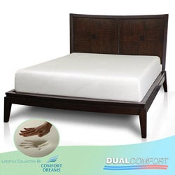 Comfort Dreams Dual Comfort 14-inch Cal King-size Memory Foam Mattress