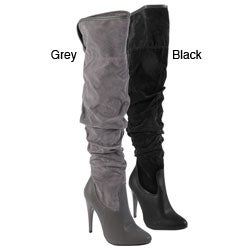 Journee Collection Women's 'Casanova-10' Ruched Over-the-knee Boots