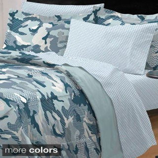Geo Camo 5-piece Twin-size Bed in a Bag with Sheet Set