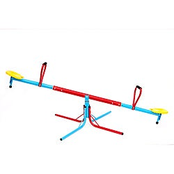 Pure Fun Powder-coated Steel and Plastic Kids' Swivel Seesaw