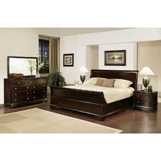 ABBYSON LIVING Kingston 5-piece Espresso Sleigh California King-size Bedroom Set