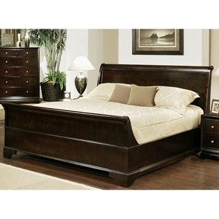 Abbyson Living Kingston Espresso Sleigh California King-size Bed