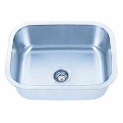 Somette Undermount Stainless Steel Single Bowl Kitchen Sink
