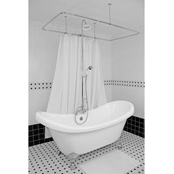 Spa Collection 73-inch Double-slipper Clawfoot Tub and Shower Pack