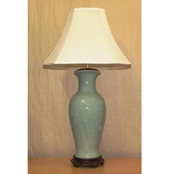 Light Blue Porcelain Crackle Table Lamp