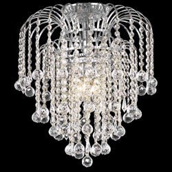 Crystal 4-light Chrome Chandelier