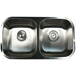 Highpoint Collection Stainless Steel Double Equal Bowl Undermount Kitchen Sink