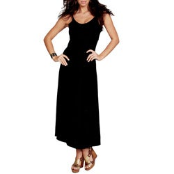 Women's Black Sequined Maxi Dress (Indonesia)