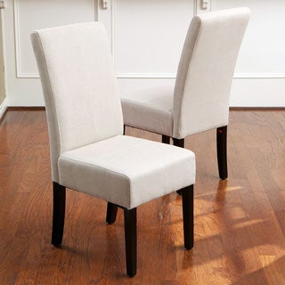 Christopher Knight Home T-stitch Natural Linen Dining Chairs (Set of 2)
