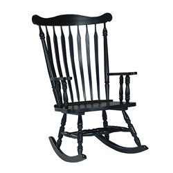 Colonial Antique Black Rocking Chair