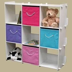White Finish 9-cubby Shelves