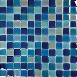 Glass Blue Blend Tile (Pack of 10)