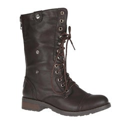 Sweet Beauty Women's 'Terra-01' Lace-up Combat Boots