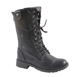 Sweet Beauty Women's Mid-calf Lace-up Boots