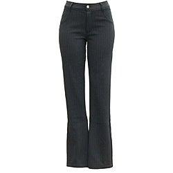 AFRC Women's Long Stripe Jean Black/ Silver Ski Pants