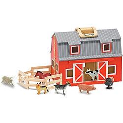 Melissa & Doug Fold and Go Barn Play Set