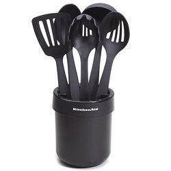 KitchenAid Black Ceramic Crock with Tools